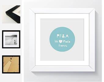 2c57fffd3e5 8x8 For 4x4     5x5     6x6   GLASS Window - Modern Square Premium Oxford  Black   White Square Instagram Table Top   Hanging Photo Frame