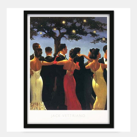 In Thoughts of You by Jack Vettriano Framed /& Mounted Art Print Grey