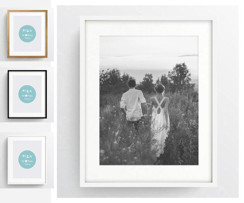 Cadre photo carré noir cadre photo avec le Mont crème /& blanc montures