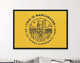 This Is Manchester - Landscape Wall Art Print