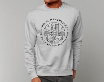 "Unisex ""This Is MCR"" Sweatshirt Jumper Manchester Streetwear"