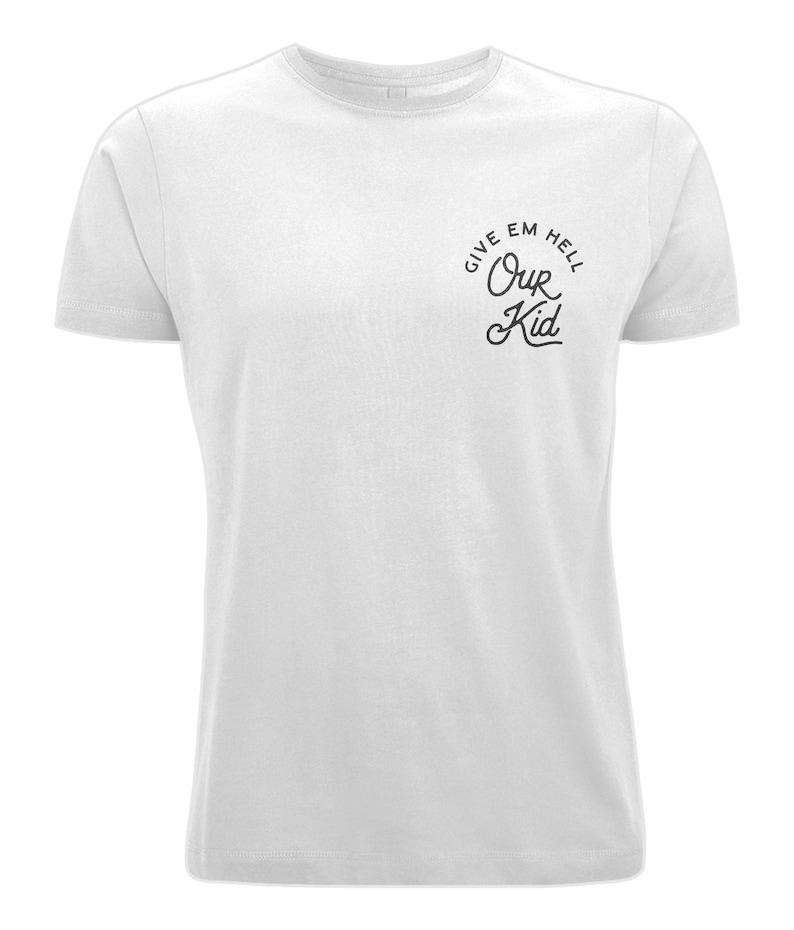 Unisex 'Our Kid' Pocket Logo T-Shirt Manchester image 0