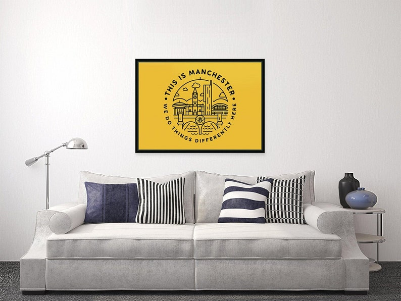 This Is Manchester  Landscape Wall Art Print image 0