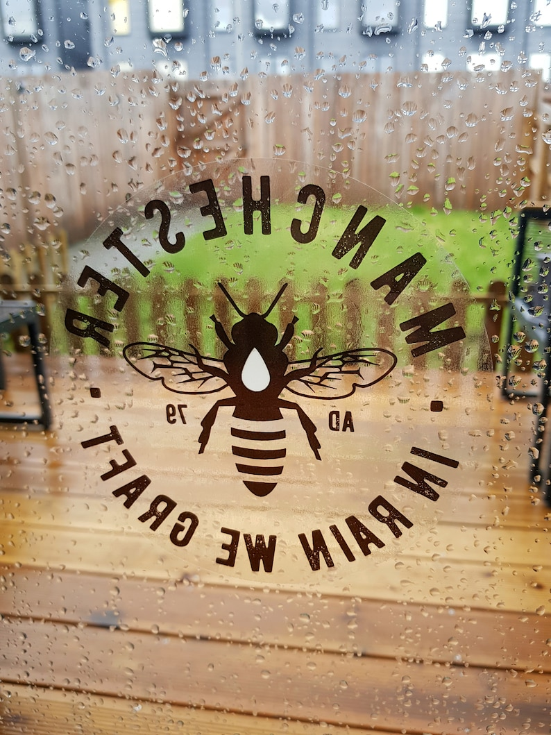 Manchester Bee Black Window Stickers image 0