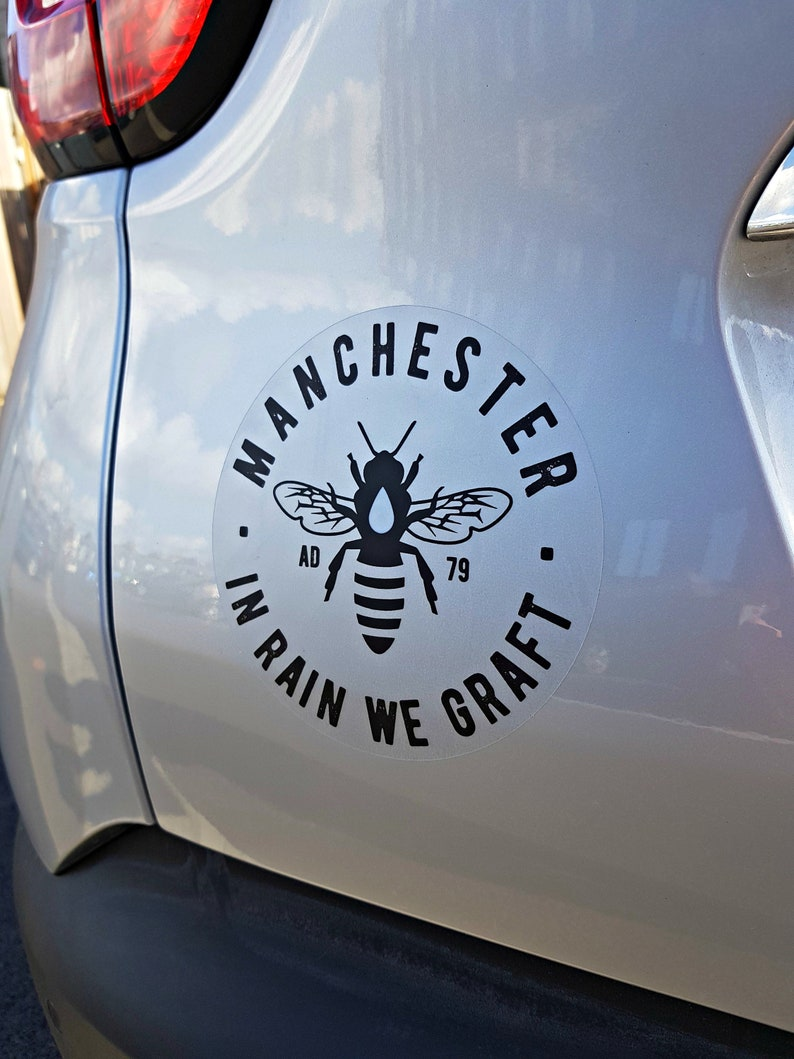 Manchester Bee Black Car Bumber Stickers image 0