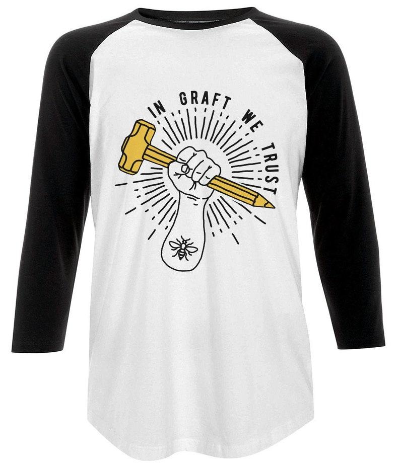 Unisex GRAFT logo Baseball T-Shirt Manchester Streetwear image 0