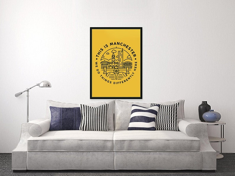 This Is Manchester  Portrait Wall Art Print image 0