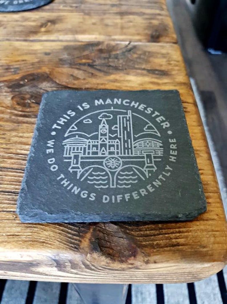 This Is Manchester Slate Coasters image 0