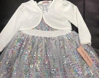 Nanette Lepore Kids Girls Dress Size 2T Sleeveless Velvet Pouf 3 Layer Lace Mesh