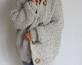 5440f59fe3 loose knit cunky oversized slouchy casual women s cardigan