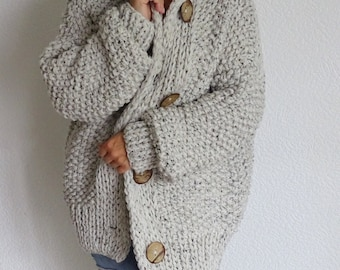5c870b88a789c loose knit cunky oversized slouchy casual women s cardigan