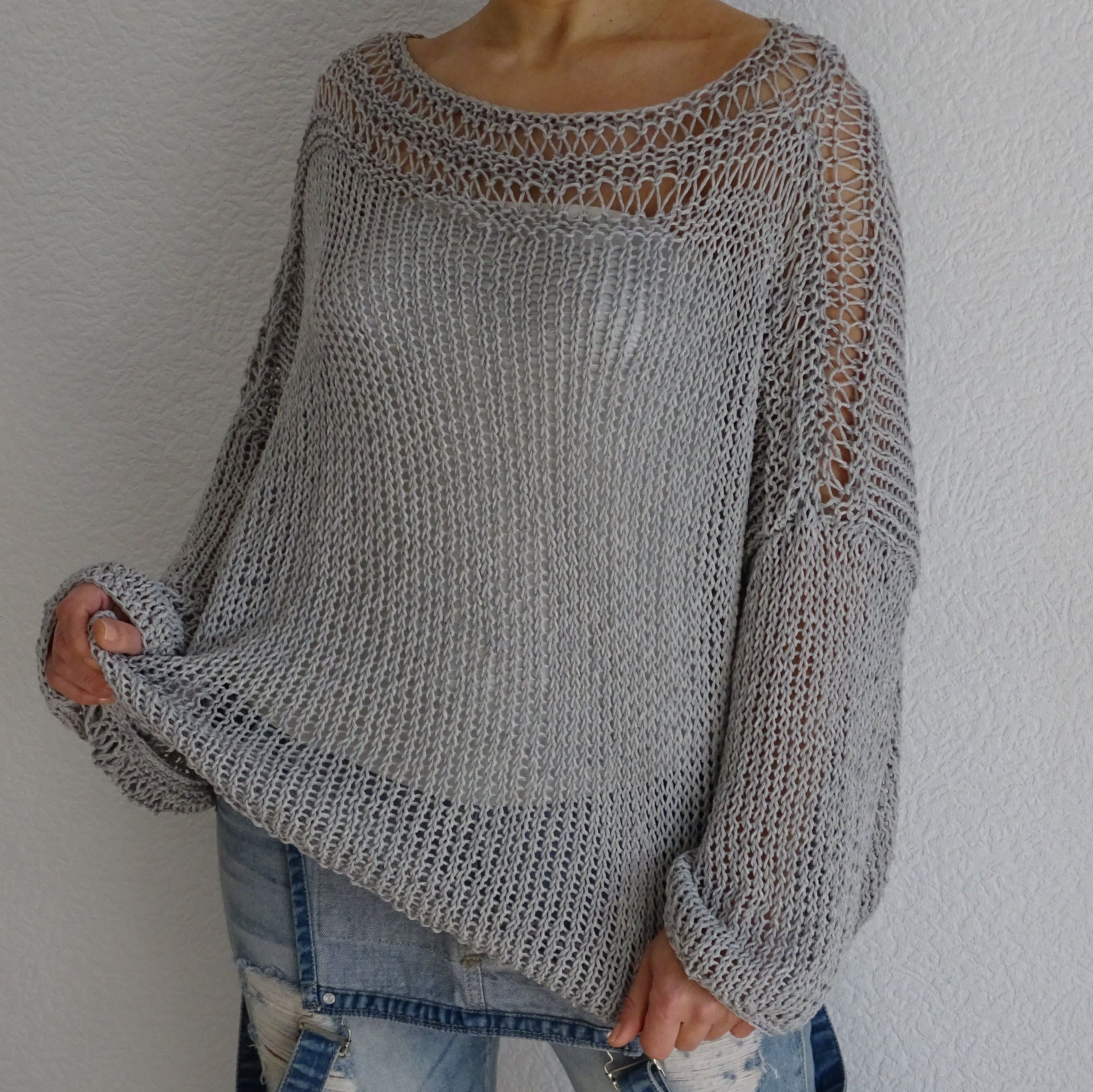 8eb5b980ba74 Oversized slouchy loose knit sweater summer sweater womens