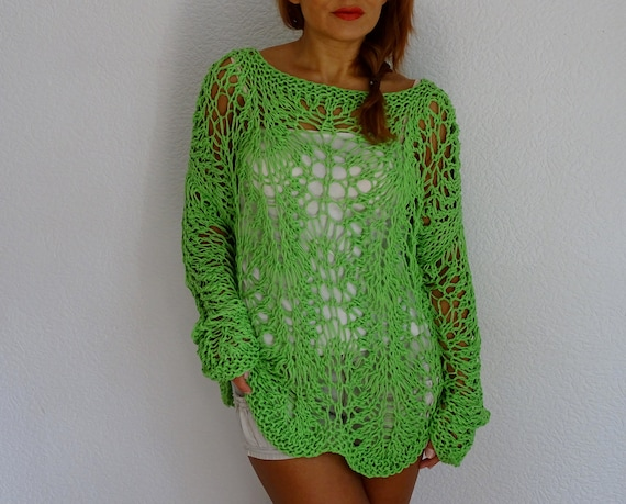 lace order knit summer knit sweater lace knit sweater sweater summer top loose knit sweater knit made lace cotton lace sweater to dqS4S