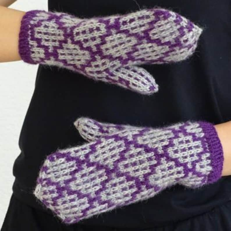 43fb60137c8 ON SALE traditional knit mittens, winter mittens, knit fair isle winter  gloves warm mittens, stuffed mittens, warm wool mittens, ready