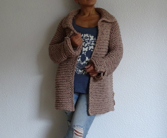 chunky knit jacket order cardigan cardigan knit cardigan to knit pullover long overcoat bulky knit knit oversized coat tweed made CR6qnO