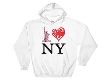 I Love New York T-Shirt Heart NY Hooded Sweatshirt