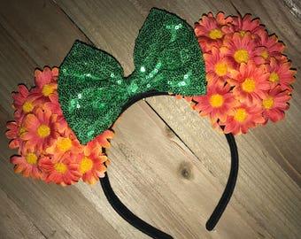 Floral Ears : Orange Sunflowers