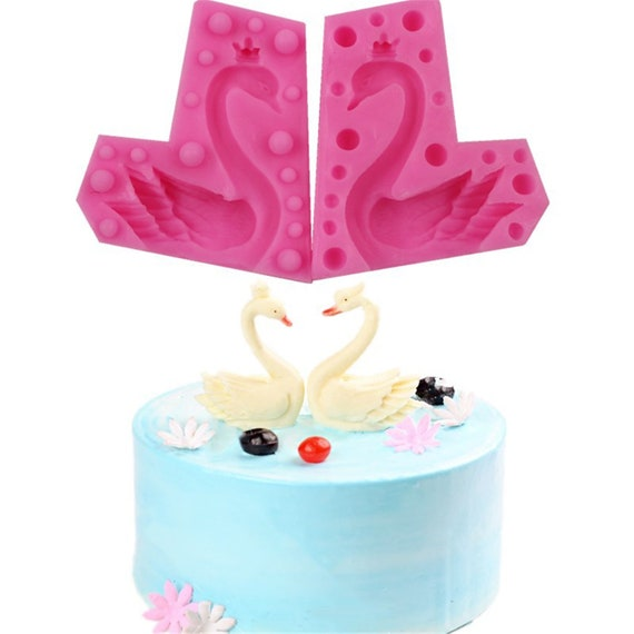 3D Swan Silicone Mold Fondant Cake Decorating Chocolate Sugarcraft Mould Tool