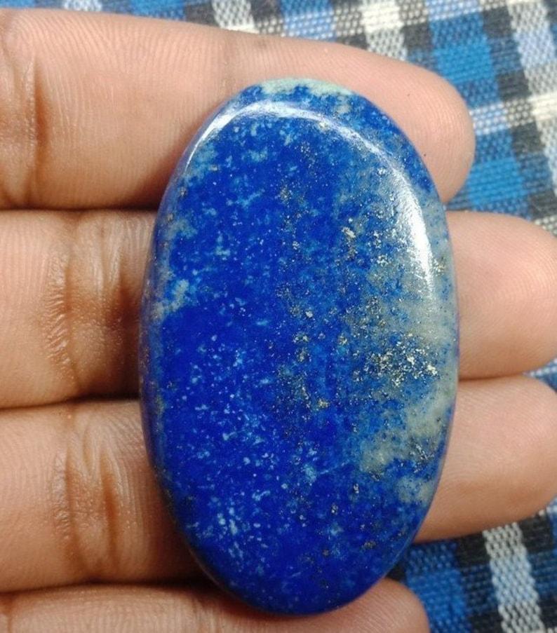 50 X 30 mm#2361 Rare Lapis lazuli cabochon Top quality Loose stone Hand Polish Gemstone 100/% Natural Semi Precious  93 Ct Very !!!