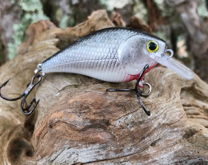 Custom Painted SLATE Square Bill Shallow Diver Crankbait