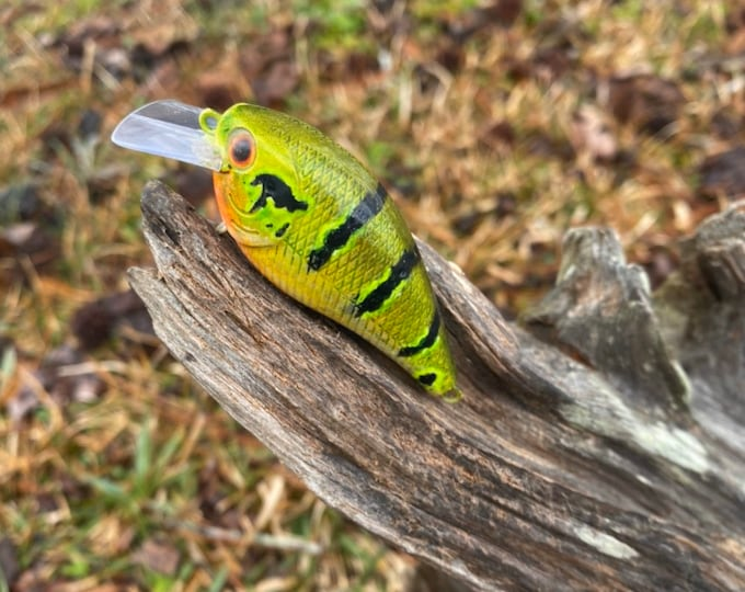 Custom Painted THREAT IS REAL 1.5 Square Bill Shallow Diver
