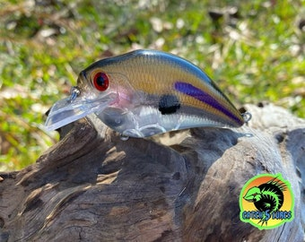 Custom Painted G-MAN GHOST Shallow Diver Crankbait