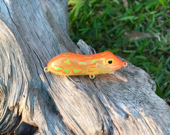 Custom Painted Friggun Froggy SLIPPY Hard Body Frog Bait