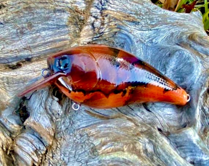 Custom Painted GRAFFITI CRAW LEGENDARY 2.5 Shallow Diver Crankbait