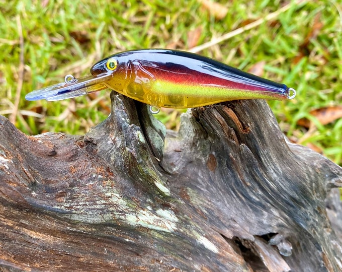 Custom Painted SAUZY GHOST Medium Diver Crankbait