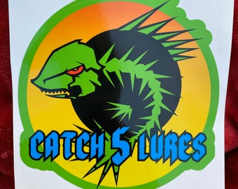 """Catch 5 Lures 6"""" Boat Decals"""