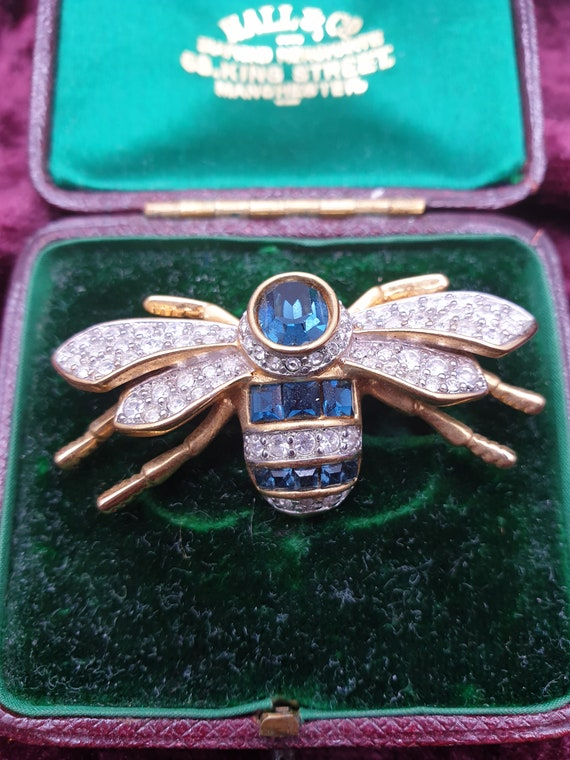 Amazing Vintage Crystal Insect Brooch