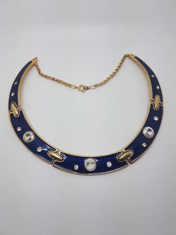 Beautiful Vintage 1980's Enamel Necklace.