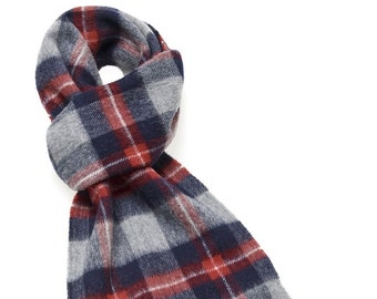 Thorney Gray Scarf - Merino Lambswool - Made in England