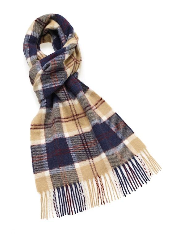 Edinburgh 100/% Lambswool Luxury Scottish Tartan Scarf Stewart Navy