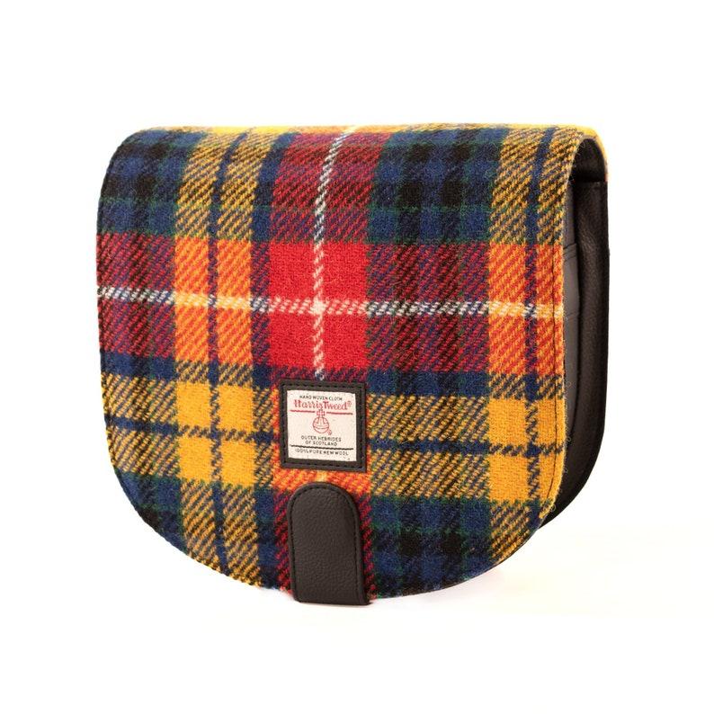 Saffron Small Cross Body Bag Harris Tweed