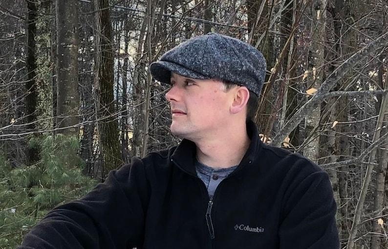 Herringbone Baker Boy Cap Country Brown Unisex Newsboy Cap  Hat Made In England