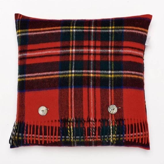 "Stewart Tartán Funda De Cojín Rojo Blanco 16 X 16/"" pulgadas país Scottish Highland"