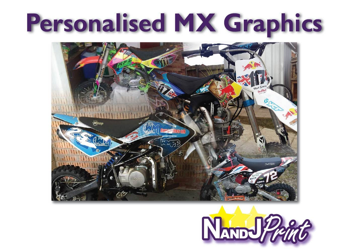 MX Motocross Bike Grafiken vollständig personalisiert TTR   Etsy