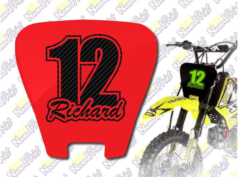 150mm x 150mm Stickers 3 x CUSTOM RACE NUMBERS Motocross Decals
