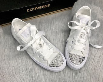 2f7e8a0305a51a Bling Swarovski Converse All Star Low Top Women s Custom Sneakers