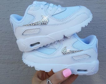 ... australia swarovski crystal nike air max 90 baby shoes toddler bling  sneakers weddings flower girls shoes 0490e28ea7