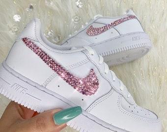 Custom Bling Crystal Nike Air Force One | Nike free shoes