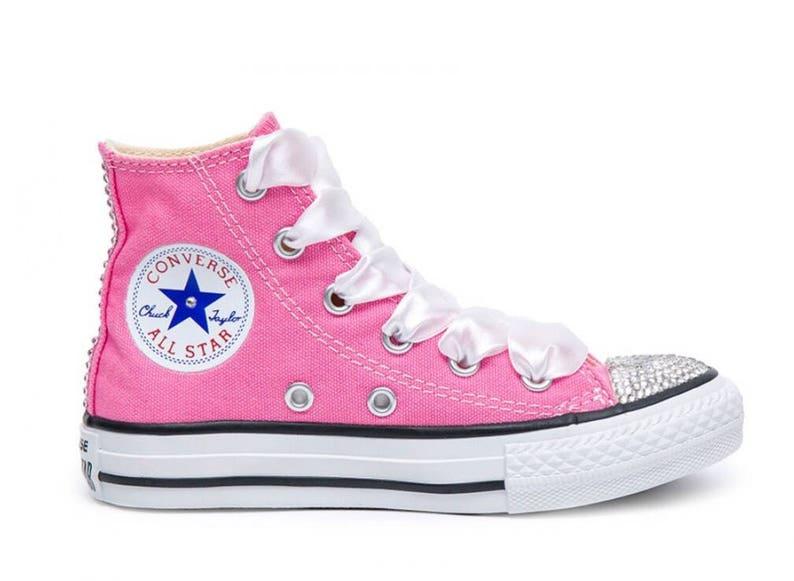 Swarovski Crystal Pink Converse All Star High Top Women s  4d30437d9149
