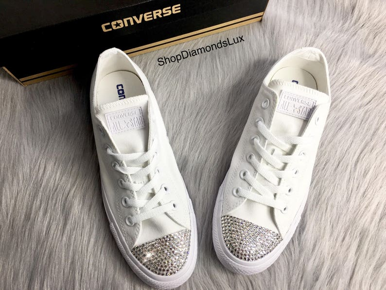 77a3f9ac26b76c Bling Converse Swarovski Crystal White Converse All Star Low