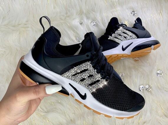 Swarovski Crystal Nike Air presto Custom donne Bling calci