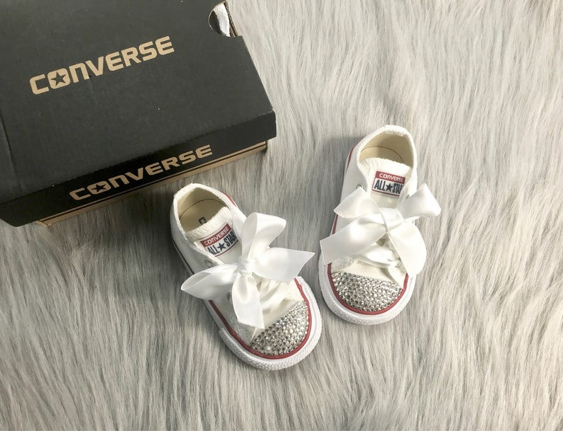 113bec390fd2 Baby Bling Converse Toddler Swarovski Crystal Sneakers Low Top