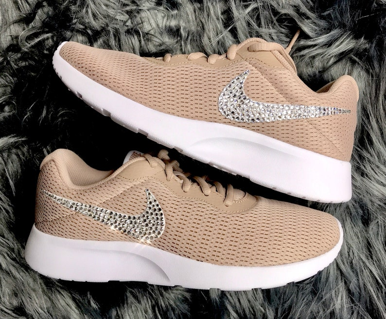 b8e8cde0a41f Women s Bling Diamond Sneakers Swarovski Nike Tanjun In