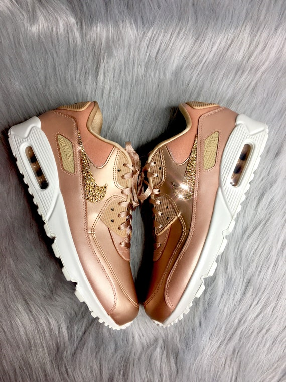 Swarovski Edition Bling Limited Metallic Bronze 90 Air Max Nike Swarovski  Women s Diamond Gold Sneakers OxHzqTn4Yw 2a0dc9e62