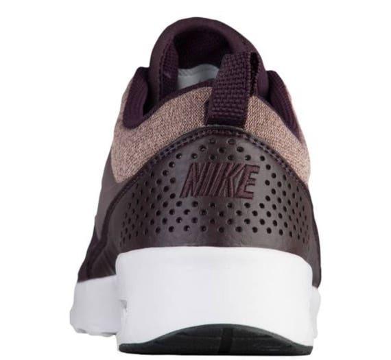 Air Sneakers Max Swarovski Nike Bling Wine In Port Mahogany Women's Thea Metallic fpwBwx