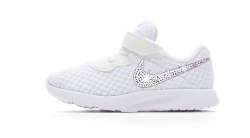 7b253a41bfad Bling Nikes Baby Tanjun Sneakers Custom With Swarovski